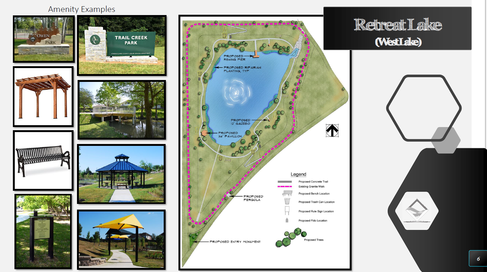 Retreat Lake (West Lake) - Amenity Examples
