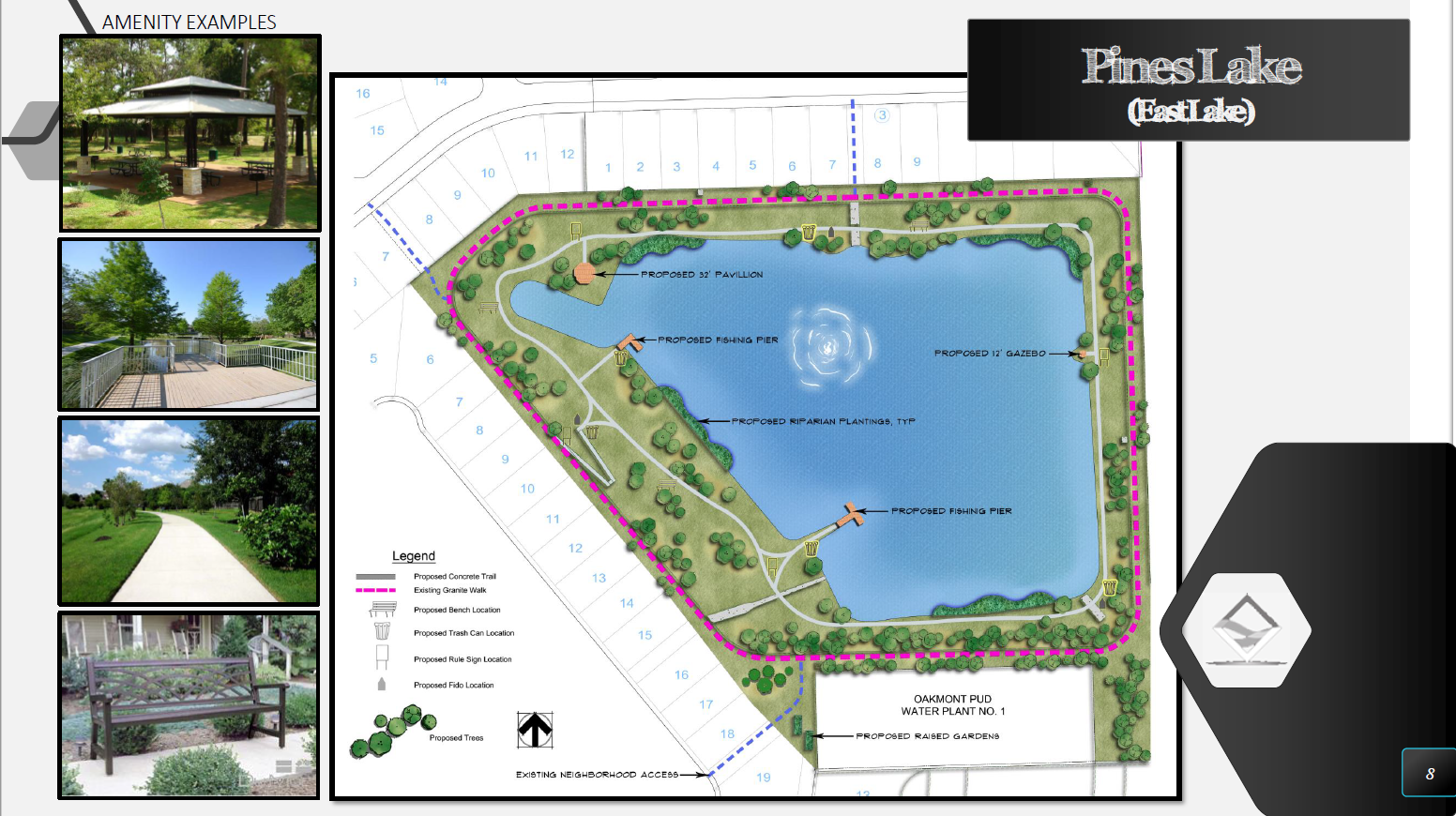 Pines Lake (East Lake) - Amenity Examples